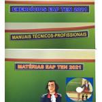Kit com 4 apostilas EAP Tenentes 2021 - Matérias, Exercícios e Áudios